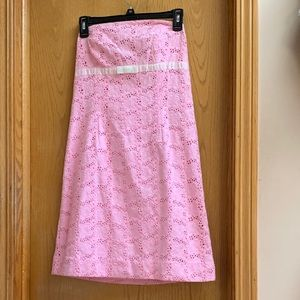 Lily Pulitzer Kelly Dress Strapless Pink Lace 8